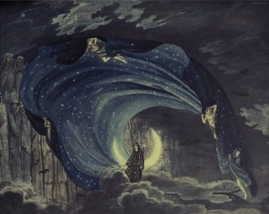 """The Queen of the Night"" sequence from Mozart's Magic Flute - Simon Quaglio in 1818"