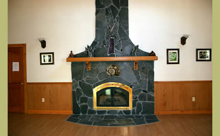 Fireplace in Heart Lodge